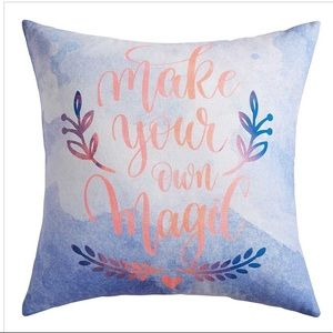 """NEW PIER 1 """"MAKE YOUR OWN MAGIC"""" PILLOW"""